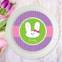 Smiley Bunny Purple Kids Bowl