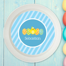 Easter Chick Blue Kids Bowl