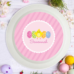 Easter Chick Pink Kids Bowl