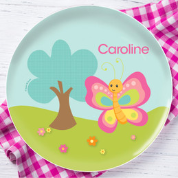 Cute And Sweet Butterfly Personalized Melamine Plates