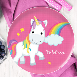 Rainbow Unicorn Personalized Dishes