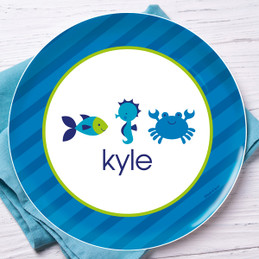 Cute Undersea creatures Kids Dinnerware