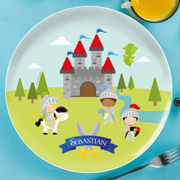 The Three Knights Personalized Plates For Kids