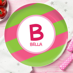 Fun Initials Pink Kids Plate  sc 1 st  Spark \u0026 Spark & Cute Personalized Kids Plates For Toddlers by Spark \u0026 Spark