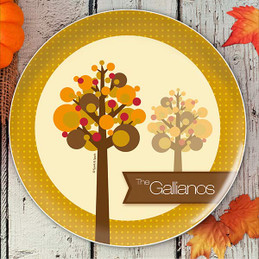 Fall Trees Holiday Plate