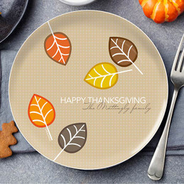 Autumn Leaves Holiday Plate