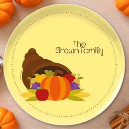 Here Comes Fall Holiday Plate