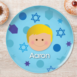 Hanukkah Joy Boy Kids Plate