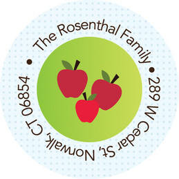 Big dotted apple tree label
