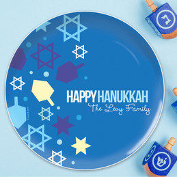 Hanukkah Wishes Holiday Plate