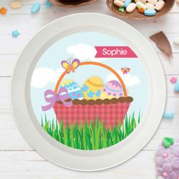 A Cute Pink Easter Basket Kids Bowl