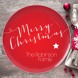Merry Christmas Message Christmas Plate