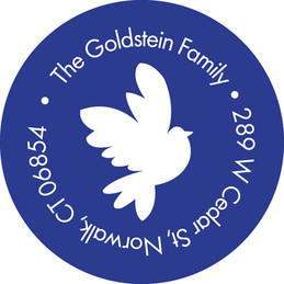 Modern dove of peace label