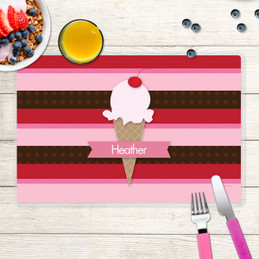 Strawberry Cone Kids Placemat