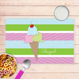 Yummy Ice Cream Kids Placemat