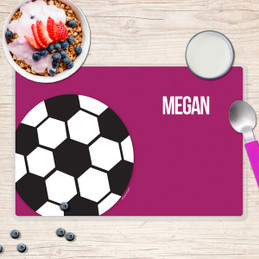 Girl Soccer Fan Purple Placemat