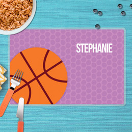 Basketball Fan Purple Kids Placemat