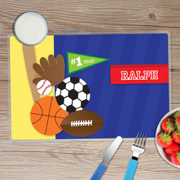 My Love for Sports Kids Placemat