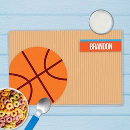 Basketball Fan Boy Kids Placemat