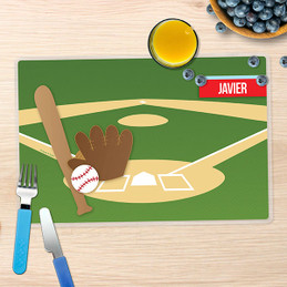 Baseball Fan Kids Placemat