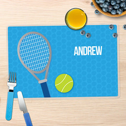 Tennis Fan Boy Blue Kids Placemat
