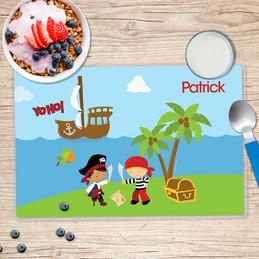 Yo Ho Pirate Boy Kids Placemat