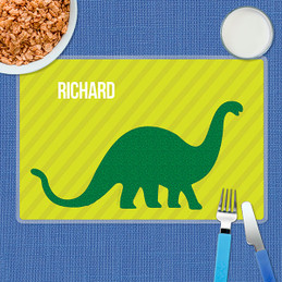Dino and Me - Green Kids Placemat