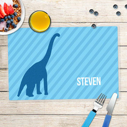 Dino and Me - Blue Kids Placemat
