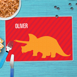 Dino and Me - Red Kids Placemat