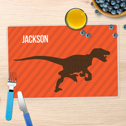 Dino and Me - Orange Kids Placemat