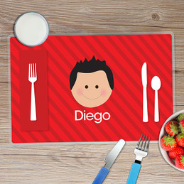 Just Like Me Boy Red Kids Placemat