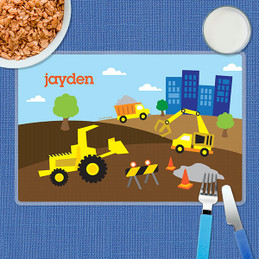 Construction Site Kids Placemat
