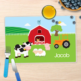 A Day in the Farm Kids Placemat