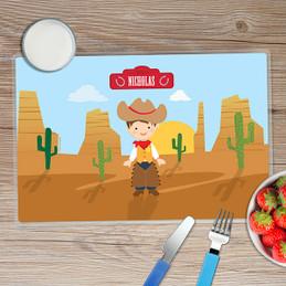 Cowboy Kids Placemat