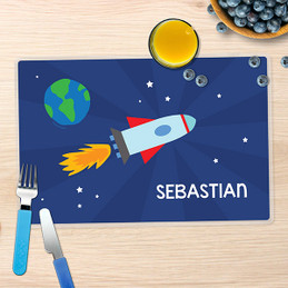 Rocket on the Sky Kids Placemats