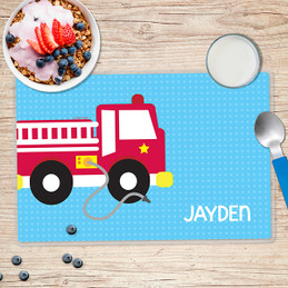 Cool Fire Truck Kids Placemats