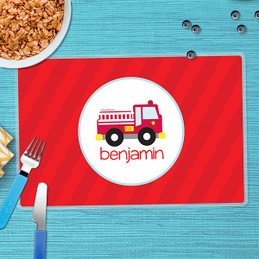 Cute Little Fire Truck Kids Placemats