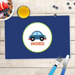 Cute Little Car Kids Placemats
