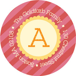 Kid Address Labels - Big Bold Letter (Orange)