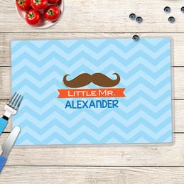 Little Mr. Mustache Kids Placemats