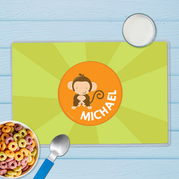 Cute Baby Monkey Kids Placemats