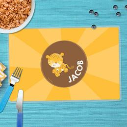 Cute Baby Cheetah Kids Placemats