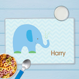 Blue Baby Elephant Kids Placemats