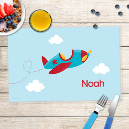 Fly Little Plane Kids Placemats
