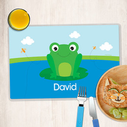Cute Smiley Frog Kids Placemats