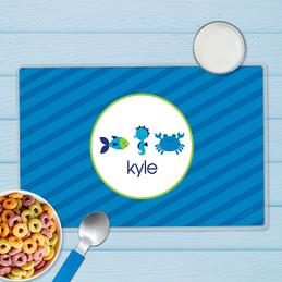Cute Undersea Creatures Kids Placemat