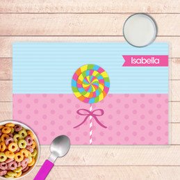 Yummy Lollipop Kids Placemat