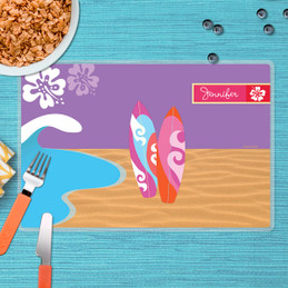 Surfing the Waves Kids Placemat