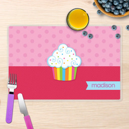 Rainbow Cupcake Kids Placemat