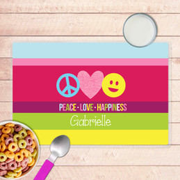 Peace & Love Signs Kids Placemat
